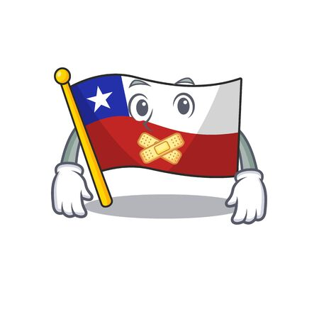 Silent flag chile with in the character