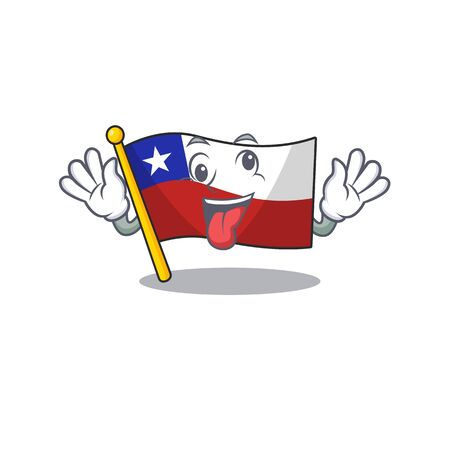 Crazy flag chile with in the character Ilustração