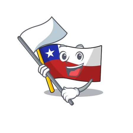 With flag flag chile with in the character Ilustração
