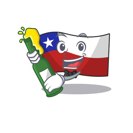 With beer flag chile with in the character
