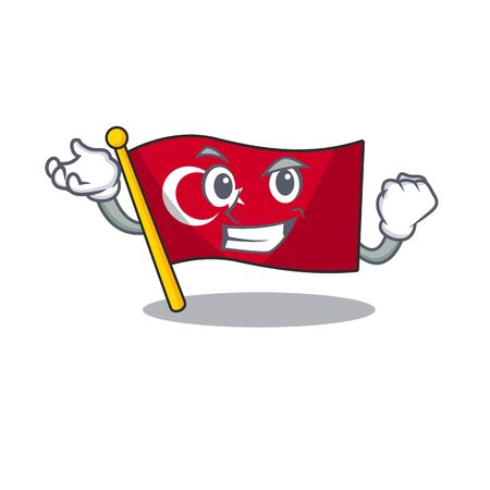 Successful flag turkey isolated in the cartoon