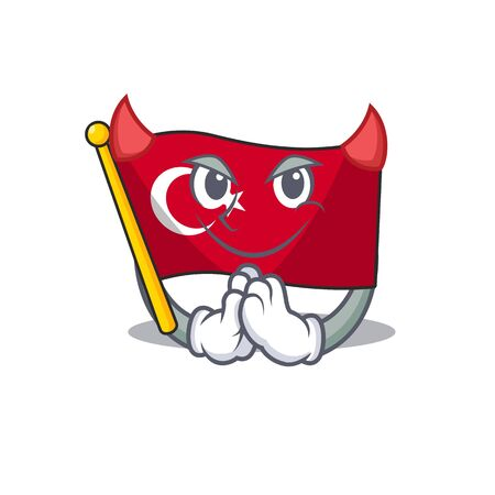 Singing flag turkey in the mascot shape