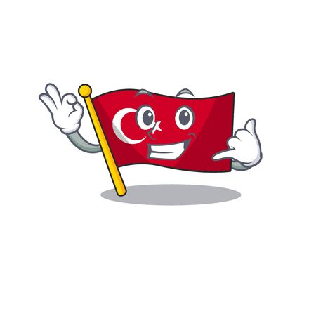 Call me turkey character flag in mascot drawer