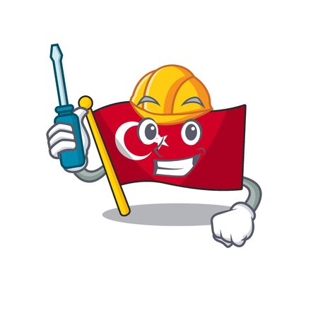 Automotive turkey character flag in mascot drawer