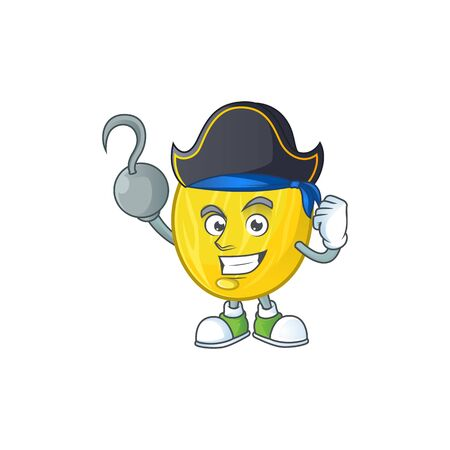 Pirate melon cartoon character for dessert mascot vector illustration