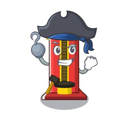 Pirate hammer cartoon shaped character game machine vector illustration