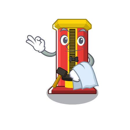 Waiter hammer game machine isolated in character vector illustration
