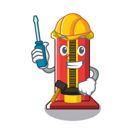 Automotive hammer game machine with the cartoon