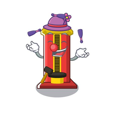 Juggling hammer game machine with the cartoon Illustration