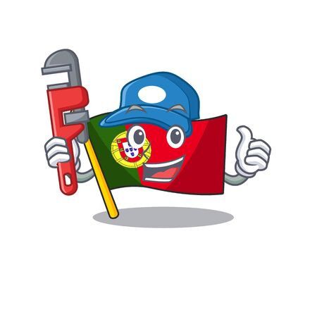 Plumber flag portugal isolated in the character Иллюстрация