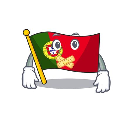 Silent flag portugal isolated in the character Иллюстрация
