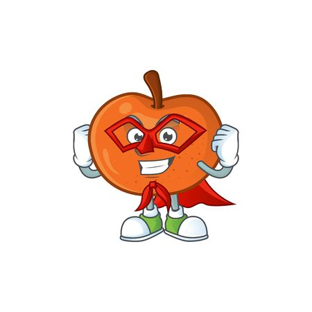 Super hero tangerine sweet in the cartoon shape vector illustration Standard-Bild - 129429327