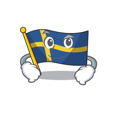 Smirking flag sweden isolated in the cartoon 스톡 콘텐츠 - 129460545