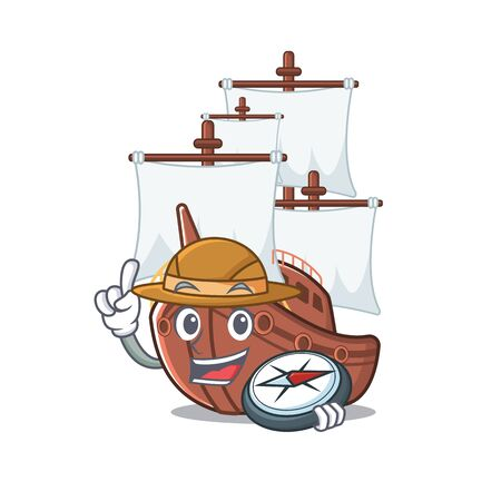 Explorer mascot shaped a pirate ship toys