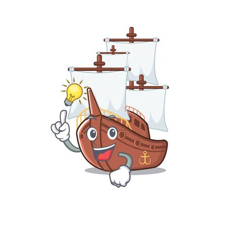 Have an idea pirate ship with the cartoon shape