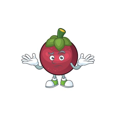 Grinning fruit mangosteen cartoon character for health vector illustration
