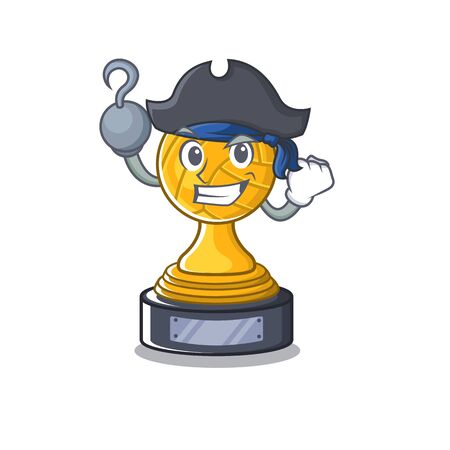 Pirate volleyball trophy isolated in the character Ilustracja