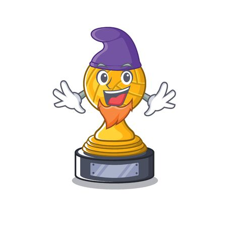 Elf volleyball trophy isolated in the character