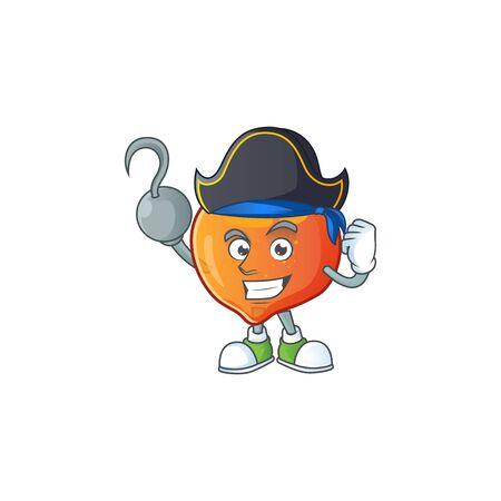 Pirate nectarian fresh cartoon character with mascot vector illustration Illustration