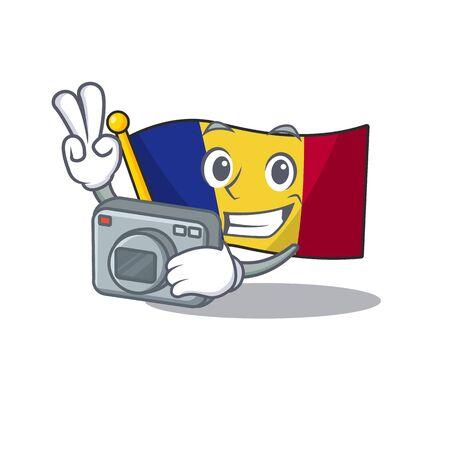 Photographer romanian cartoon flag folded in drawer