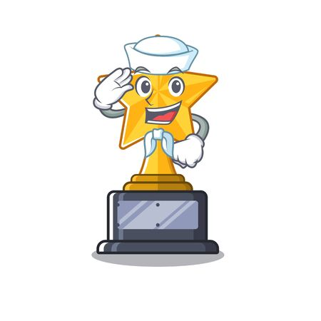 Sailor cartoon star trophy in character drawer