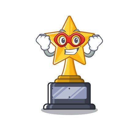 Super hero star trophy with the character shape Illusztráció