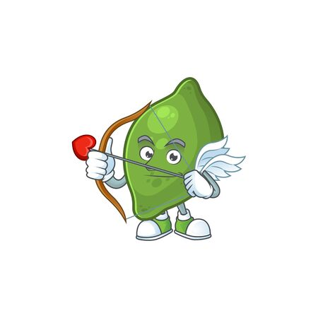 Cupid lime fruit character on white background