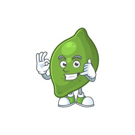 Call me fresh lime cartoon character for cuisine