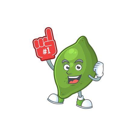 Foam finger fresh lime cartoon character for cuisine Illusztráció