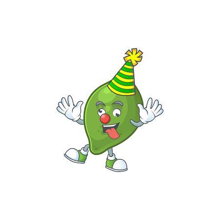 Clown fresh lime cartoon character for cuisine