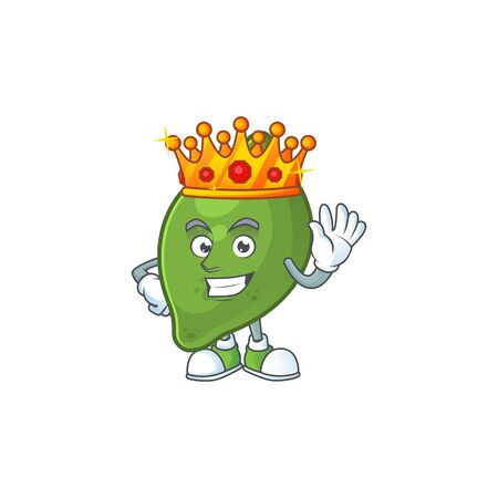 King fresh lime cartoon character for cuisine 写真素材 - 129573532