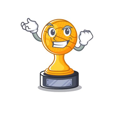 Successful cartoon basketball trophy display in drawer vector illustration 向量圖像
