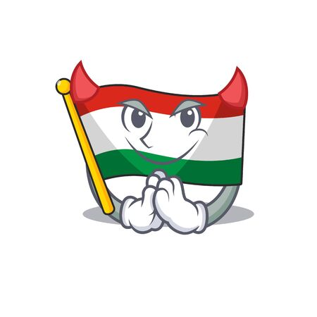 Devil flag hungary isolated with the cartoon vector illustration Иллюстрация
