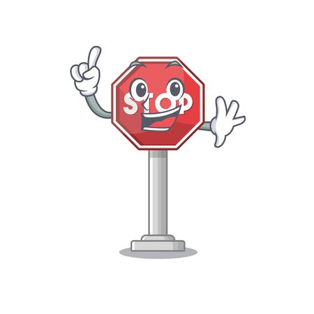 Finger sign stop isolated with the cartoon vector illustration