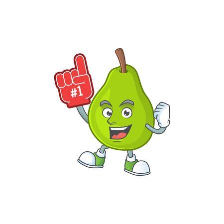 Foam finger green guava cartoon character for dessert healthy