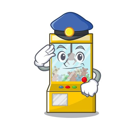 Police crane game isolated with the mascot vector illustration  イラスト・ベクター素材