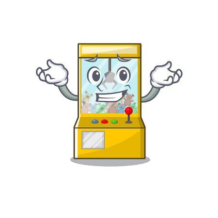 Grinning crane game cartoon shape on character vector illustration