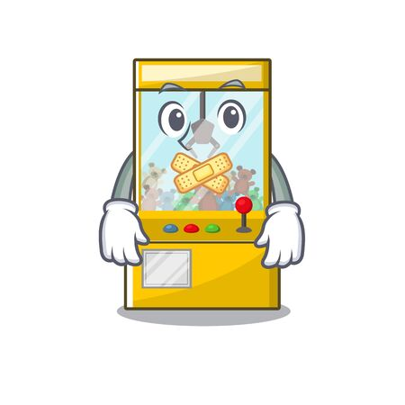Silent miniature crane game in shape characters vector illustration