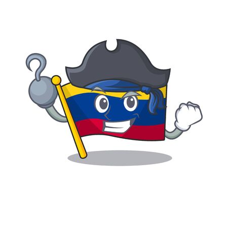 Pirate colombia flag kept in cartoon cupboard vector illustration Иллюстрация