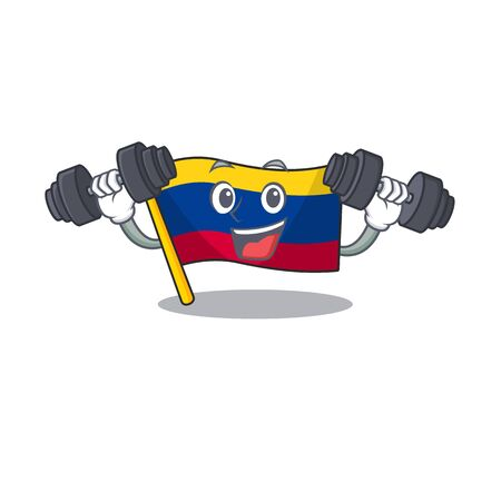 Fitness colombia flag kept in cartoon cupboard vector illustration Фото со стока - 129621791