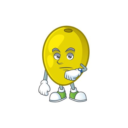 Waiting fresh olive oil in mascot cartoon vector illustration