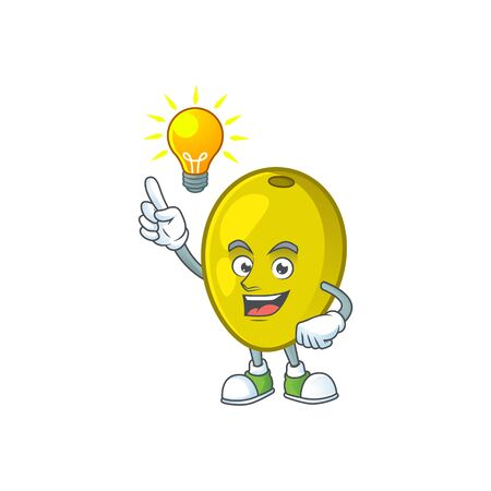 Have an idea fresh olive oil in mascot cartoon vector illustration