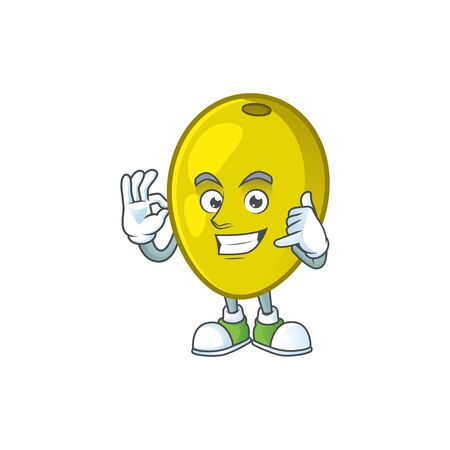 Call me fresh olive oil in mascot cartoon vector illustration
