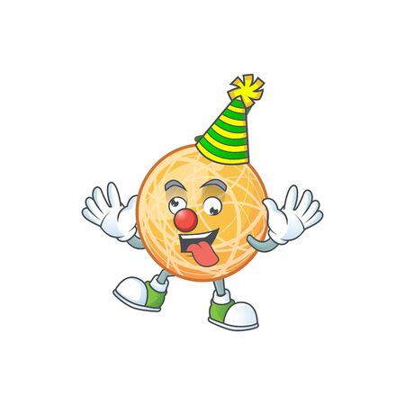 Clown object cantaloupe fruit for mascot character vector illustration