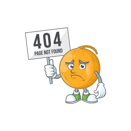 Pouting with bring board casaba melon cartoon character with mascot vector illustration Standard-Bild - 129649278