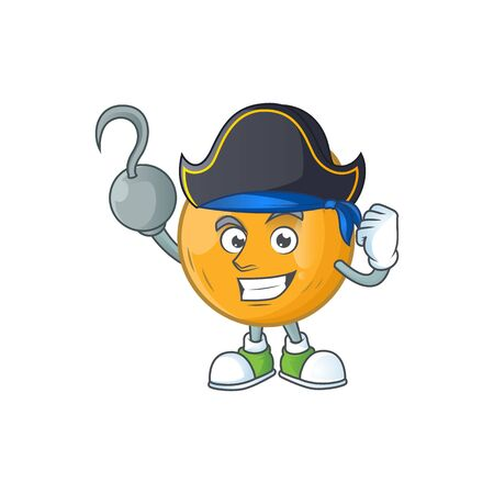 Pirate casaba melon cartoon character with mascot vector illustration Standard-Bild - 129649280