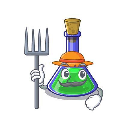 Farmer magic potion in a mascot bottle