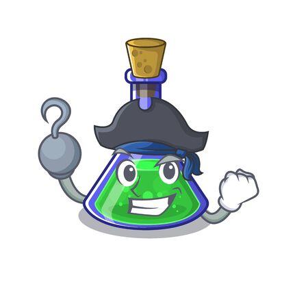 Pirate magic potion in a mascot bottle Illusztráció