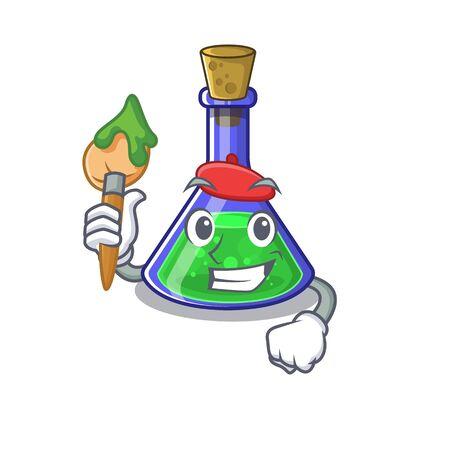 Artist magic potion in a mascot bottle