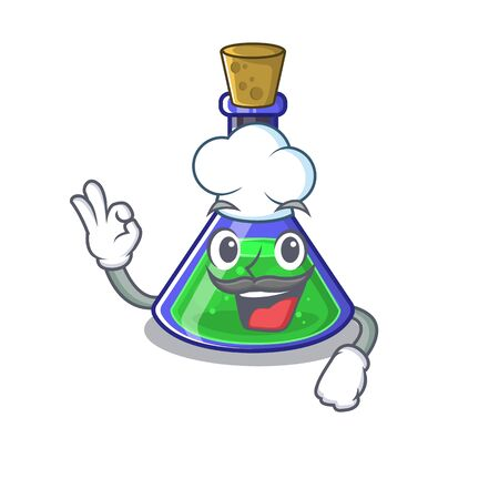 Chef magic potion isolated in the cartoon